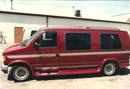 small red  Bright  Van